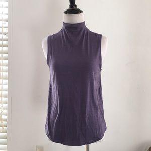 Lululemon purple back open mock neck tank top XS